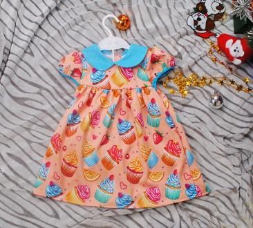 Красивое платьице для девочки 8-12 мес.. Киев. фото 1