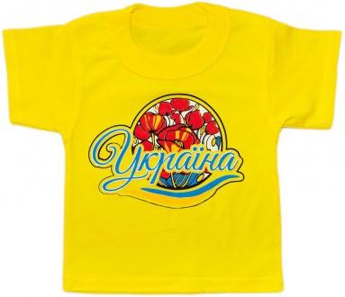 Нарядные детские  и яркие футболочки с украинской символикой: 28р, 30р, 32р, 34р. Киев. фото 1