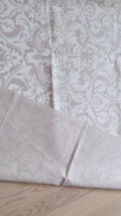 Отрез испанской ткани высота 206см ширина 140см, хлопок, рисунок белый, изнанка . Днепр, Днепропетровская область. фото 3