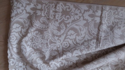 Отрез испанской ткани высота 206см ширина 140см, хлопок, рисунок белый, изнанка . Днепр, Днепропетровская область. фото 4