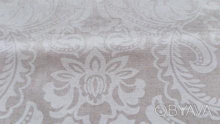 Отрез испанской ткани высота 206см ширина 140см, хлопок, рисунок белый, изнанка . Днепр, Днепропетровская область. фото 1
