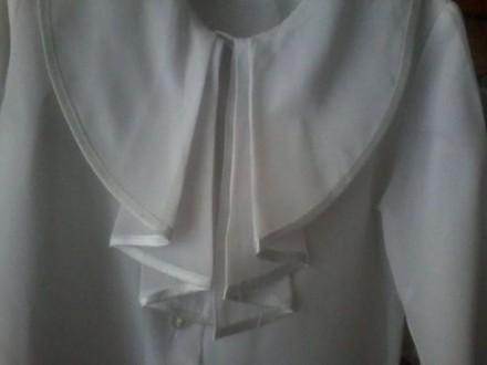 Белая школьная блузка. Конотоп. фото 1