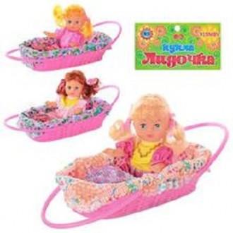 Кукла Лидочка (21 см) в корзинке,  и Кукла Сонечка (15см) в корзинке. Киев. фото 1
