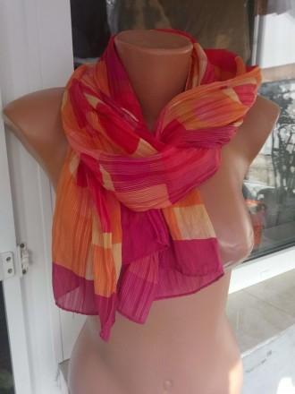 Яркий легкий шелковый шарфик.. Ужгород. фото 1