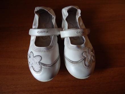 Балетки Geox для девочки, 34 размер, туфли , мокасины кожа. Чернигов. фото 1
