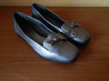 Кожаные туфли для девочки , размер 35,5, мокасины, балетки. Чернигов. фото 1