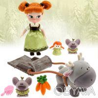 Игровой набор мини кукла аниматор малышка Анна с аксессуарами Дисней. Запоріжжя. фото 1