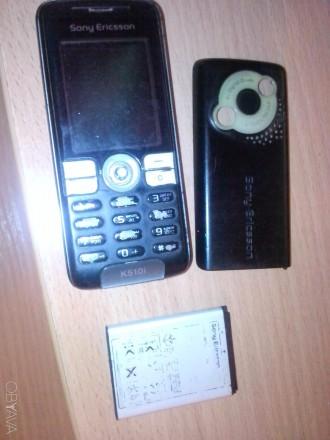мобильный телефон sony ericsson k510i  задняя крышка в комплекте. БЕЗ зарядного . Днепр, Днепропетровская область. фото 1