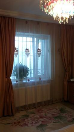 Гардина в спальню, основа сетка, вышивка бархат крупные корзины. Гардина цельная. Днепр, Днепропетровская область. фото 2