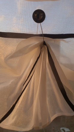 Декорирование балконных окон гардинами. Ткань для гардины Rasch textil, Германия. Днепр, Днепропетровская область. фото 5