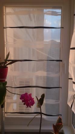 Декорирование балконных окон гардинами. Ткань для гардины Rasch textil, Германия. Днепр, Днепропетровская область. фото 7