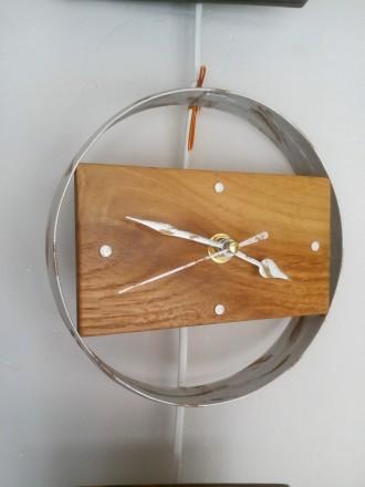 Часы настенные, дерево, ручная работа, разные. Механизм бесшумный. Цены 200 - 40. Сумы, Сумская область. фото 5