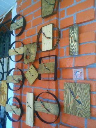 Часы настенные, дерево, ручная работа, разные. Механизм бесшумный. Цены 200 - 40. Сумы, Сумская область. фото 2