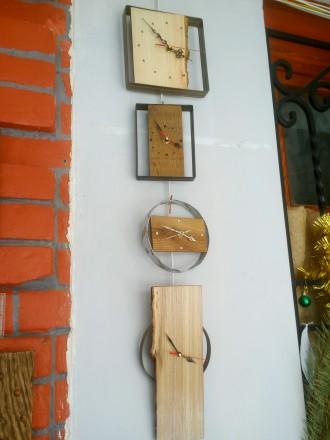 Часы настенные, дерево, ручная работа, разные. Механизм бесшумный. Цены 200 - 40. Сумы, Сумская область. фото 3