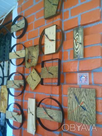Часы настенные, дерево, ручная работа, разные. Механизм бесшумный. Цены 200 - 40. Сумы, Сумская область. фото 1