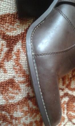отличные, полностью кожаные добротные демисезонные сапоги,удобная устойчивая кол. Днепр, Днепропетровская область. фото 7