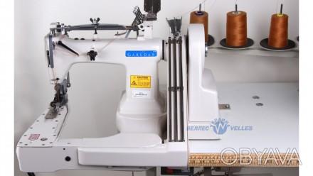 Промышленная машина GS 936 DPL-H с П-образной платформой, 3-игольная, на тяжелые. Золочев, Львовская область. фото 1