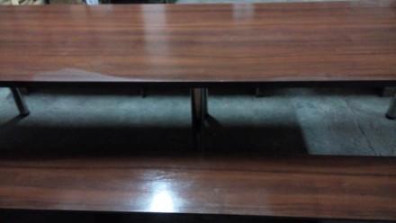 Продам большой стол (длина 2,70 м., ширина 0,80м.) со скамейками для отдыха. Иде. Сумы, Сумская область. фото 6