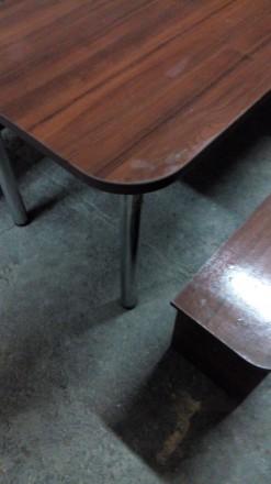 Продам большой стол (длина 2,70 м., ширина 0,80м.) со скамейками для отдыха. Иде. Сумы, Сумская область. фото 4