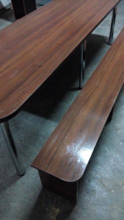 Продам большой стол (длина 2,70 м., ширина 0,80м.) со скамейками для отдыха. Иде. Сумы, Сумская область. фото 5