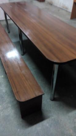 Продам большой стол (длина 2,70 м., ширина 0,80м.) со скамейками для отдыха. Иде. Сумы, Сумская область. фото 3