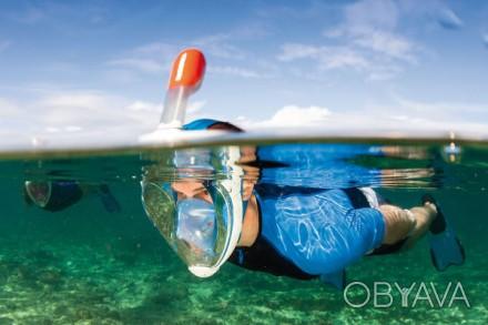 Маска для снорклинга ныряния из Франции Subea Tribord EASYBREATH   Источник: htt