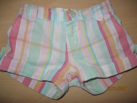 Продам симпатичные шорты на лето для девочки 4-6 лет р. 74см.. Чернигов. фото 1