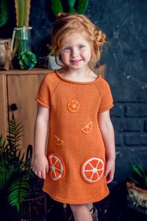 Детское летнее платье туника сарафан с аппликацией. Киев. фото 1