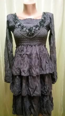 Платье серое 223 разные размеры. Ладыжин. фото 1
