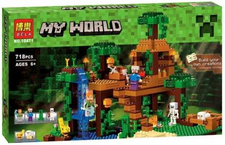 Конструктор Bela 10471 Minecraft Майнкрафт Домик на дереве в джунглях 718 детале. Харьков. фото 1