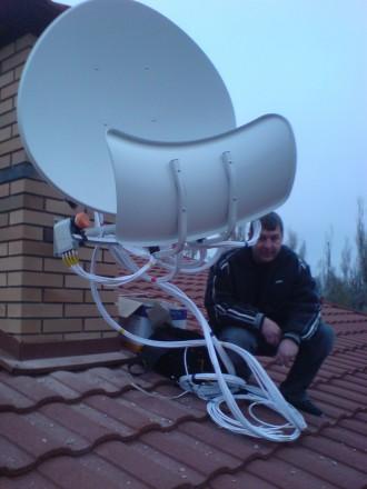 Спутниковое ТВ, антенны спутниковые, эфирные, Т2. Установка, ремонт.. Запорожье. фото 1