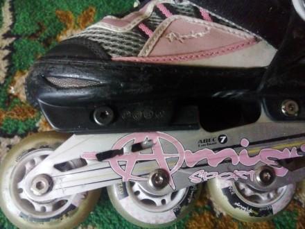Ролики - Amigo sport с регулируемым размером 30-33   Легко едут, ребёнку будет. Днепр, Днепропетровская область. фото 5