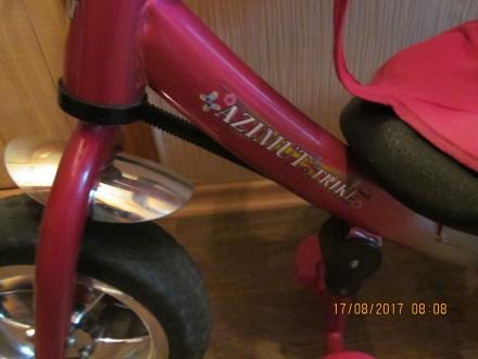 Продам трёхколёсный велосипед в хорошем состоянии,всё на месте,целое,имеется тен. Одесса, Одесская область. фото 5