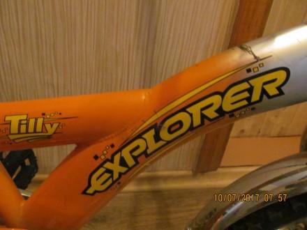 велосипед двухколёсный Tilli Explorer с новыми шинами ,имеется багажник и ножной. Одесса, Одесская область. фото 4