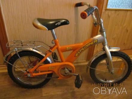 велосипед двухколёсный Tilli Explorer с новыми шинами ,имеется багажник и ножной. Одесса, Одесская область. фото 1