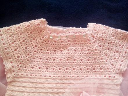 Продам красивое нарядное платье ручной работы. Комбинированное платье - вязанный. Днепр, Днепропетровская область. фото 4