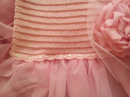 Продам красивое нарядное платье ручной работы. Комбинированное платье - вязанный. Днепр, Днепропетровская область. фото 10