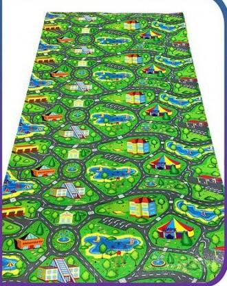 Детский развивающий игровой коврик Автодорога Приключений 200х110, толщина 8мм.. Чернигов, Черниговская область. фото 5