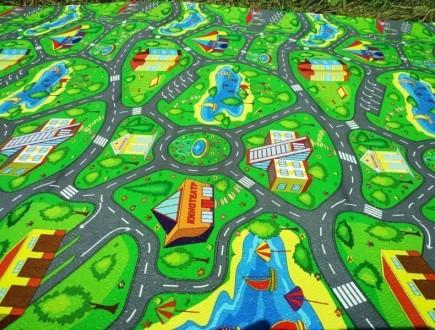 Детский развивающий игровой коврик Автодорога Приключений 200х110, толщина 8мм.. Чернигов, Черниговская область. фото 4