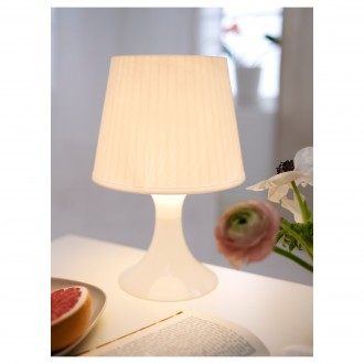 ИКЕА IKEA ЛАМПАН Лампа настольная/ночник, белая. В наличии. Киев. фото 1