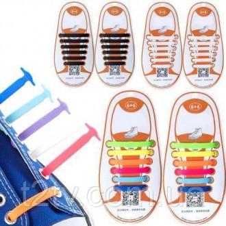 Яркие и очень практичные силиконовые шнурки для детской маленькой обуви. Комплек. Ровно, Ровненская область. фото 3