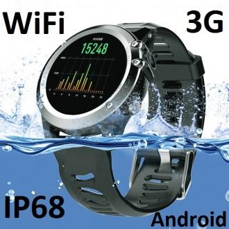 Умные водонепроницаемые часы Smart Watch Premium RAZY на базе Android 3G WiFi. Киев. фото 1