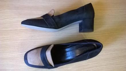 Кожаные туфли лоферы на 40р. 26 см. Andre Франция, классика, стиль. Львов. фото 1