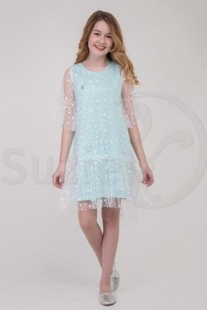 Комплект Джена платье-сарафан с прозрачной накидкой 140-146-152-158 TM Suzie. Харьков. фото 1