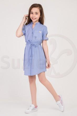 Модное летнее платье Азель 134-140-146-152-158 TM Suzie. Харьков. фото 1