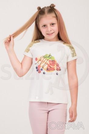 Оригинальная футболка «Пейт» добавит разнообразия образу маленькой модницы. Мо. Харьков, Харьковская область. фото 1