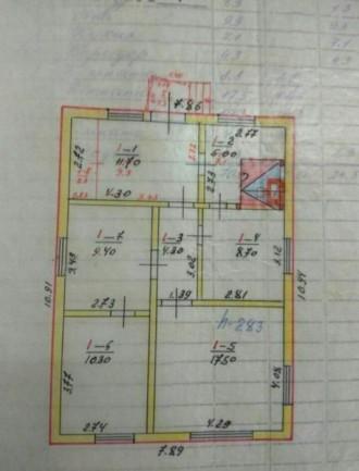 Продаю хороший, тёплый кирпичный дом, построен на основе шпал. Стоят мет.пластик. Городня, Черниговская область. фото 5