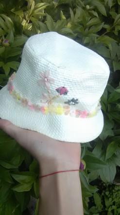 Симпатичная шляпка для девочки в идеальном состоянии, размер 52 без дефектов, п. Буск, Львовская область. фото 3