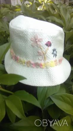 Симпатичная шляпка для девочки в идеальном состоянии, размер 52 без дефектов, п. Буск, Львовская область. фото 1