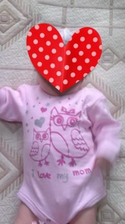 Бодик розовый,с длинным рукавом 0-3 мес -80гр  Штанишки розовые с рюшем .0-6мес. Николаев, Николаевская область. фото 3